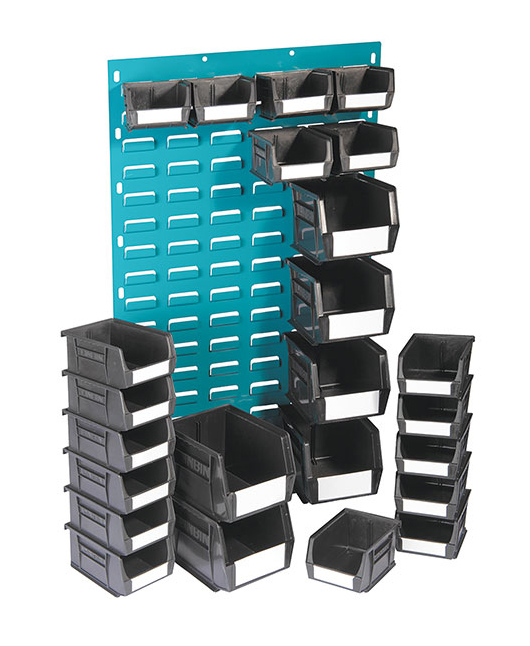 Storelab storage bins black storage equipment